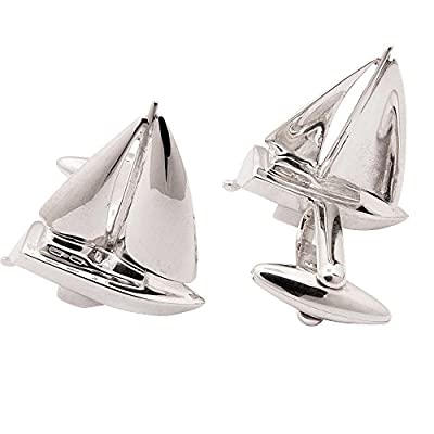 Sailboat Cufflinks, Sterling Silver, handcrafted