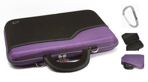 Purple Laptop Bag for 15.6 inch Asus K50IJ-X3 Notebook + An Ekatomi Hook.