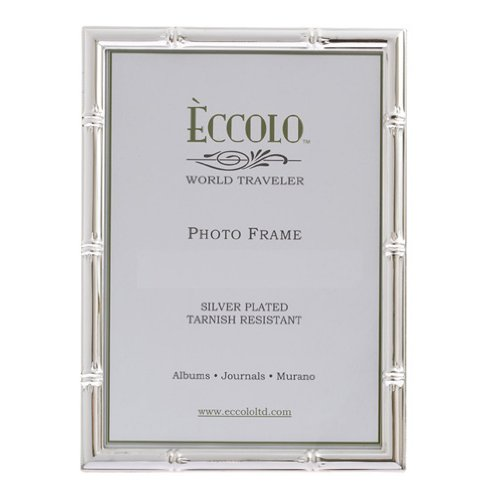 Eccolo World Traveler Bamboo Pattern Silver Plated Frame, Holds a 4 x 6-Inch Photo (Frames Italian compare prices)