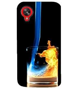 PRINTSHOPPII GLASS FIRE Back Case Cover for LG Google Nexus 5::LG Google Nexus 5 (2014 1st Gen)