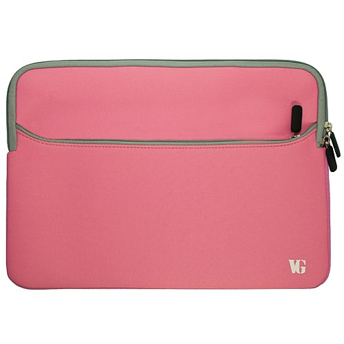 Pink Durable Neoprene Protective Laptop Sleeve Cover For Hp 17.3 Inch Laptop Models 4730S / 8760W / 8770W / Hp Pavilion Dv7-7030Us / G7-2010Nr / Dv7-7020Us / Dv7-7010Us / Hp Envy 17-3270Nr / 17-3290Nr + Sumaclife Wisdom Courage Wristband