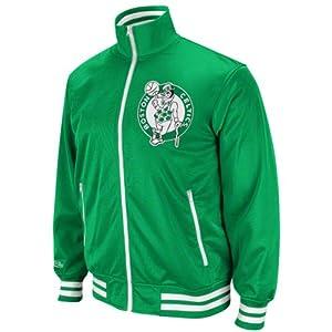 NBA Mitchell & Ness Boston Celtics Preseason Warm-Up Track Jacket - Green by Mitchell & Ness