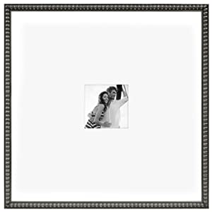 MCS 20 by 20-Inch Pewter Bead Signature Frame with 5 by 5-Inch Mat Opening