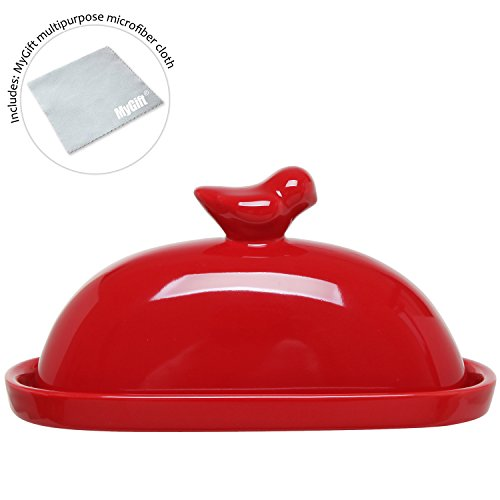 Butter Dish With Handle On Lid