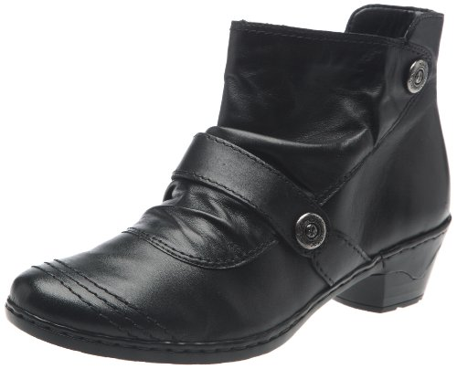 Rieker Ladies 76963-01 Lynn Ankle Boots Black Size 42 EU