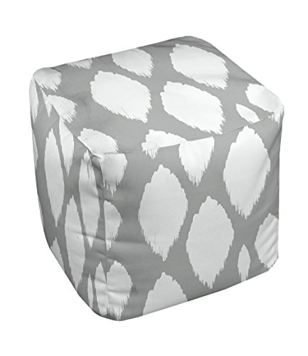 E by design FG-N15-Grey-13 Geometric Pouf