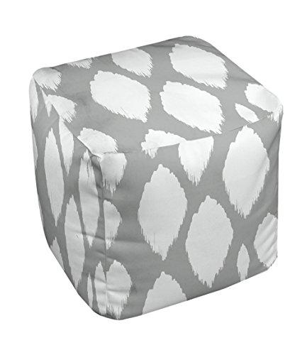 E by design FG-N15-Grey-18 Geometric Pouf