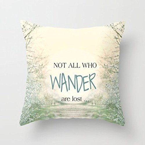 Autumn Coming Not All Who Wander Are Lost Throw Pillow By Sunlight Studios Monika Strigelfor Your Home