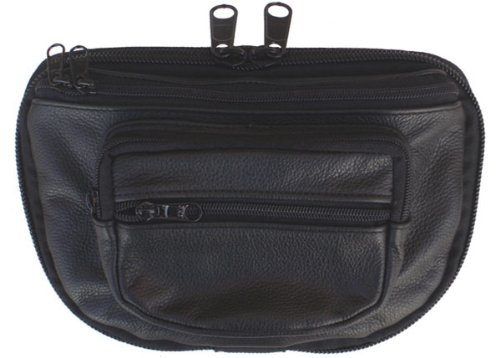 DTOM Concealed Carry Fanny Pack COWHIDE LEATHER-Black image