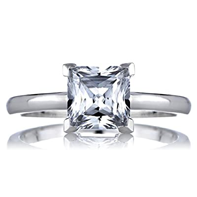 1.25 CT Princess Cut CZ Engagement Ring