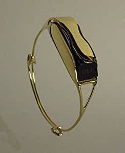 sanabelle fitbit flex bracelet jewelry band tory burch fitbit alternative gold. Black Bedroom Furniture Sets. Home Design Ideas