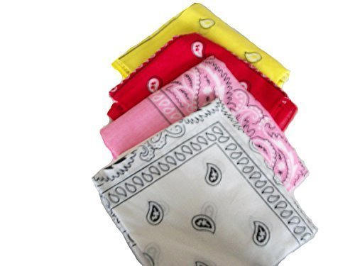 four-pack-paisley-design-bandanas-white-red-yellow-pink-fast-post