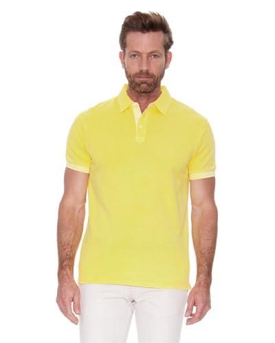Cortefiel Polo Piqué Tinte Prenda Sun Fa Amarillo