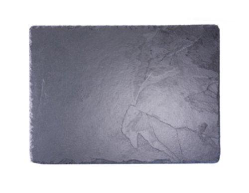 Platos individuales Slate fuente Rectangular 50 x 38 cm/tabla de cortar queso, negro
