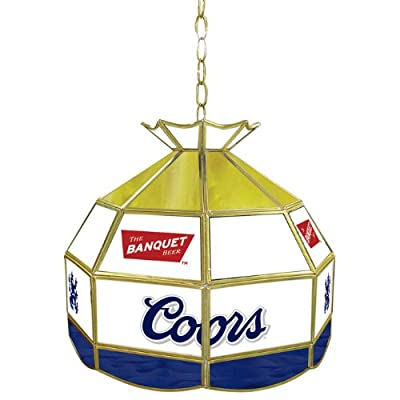 Trademark Global Coors Banquet Stained Glass Tiffany Lamp, 16-Inch Diameter