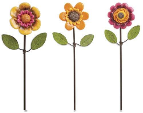 Miniature Dollhouse FAIRY GARDEN/ Flower Pick - Set of 3