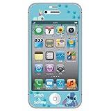 PGA iPhone4S / iPhone4 対応ディズニーキャラクター 気泡が入らない液晶保護フィルム スティッチ&スクランプ PG-IJK581STI
