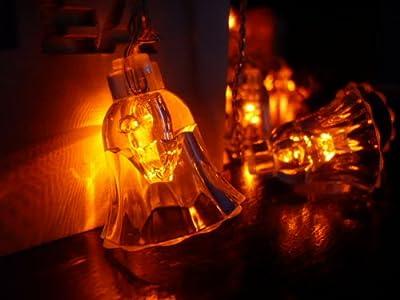 ORANGE TREE TRADE Orange Bell LED String Lights; LED Christmas Lights; Party Lights