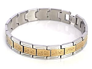 Gold Stainless Steel Men Bracelet Jewelry Chain Link