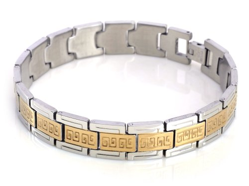 Imixlot Men' Gold Stainless Steel Men Stylish Cool Bracelet Jewelry Chain Link