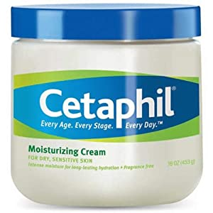 Cetaphil Moisturizing Cream for Dry, Sensitive Skin, Fragrance Free