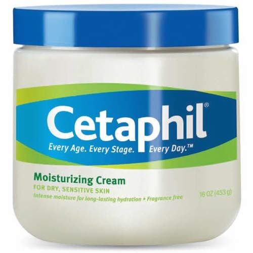 Cetaphil Moisturizing Cream for Dry, Sensitive Skin, Fragrance Free, Non-comedogenic
