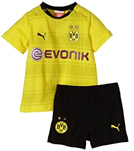 Puma Babies' Replica Football Kit Borussia Dortmund with Sponsor Logo Socks not Included blazing yellow-black Size:62