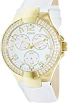 Guess Ladies Watch White Leather with Gold U12564L3