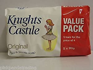 3 x 5-PACK KNIGHTS CASTILE ORIGINAL SOAP MILD & GENTLE 15 X 90g