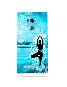 alDivo Premium Quality Printed Mobile Back Cover For Gionee Elife E8 / Gionee Elife E8 Printed Peace / Yoga Mobile Case / Cover (MKD078)