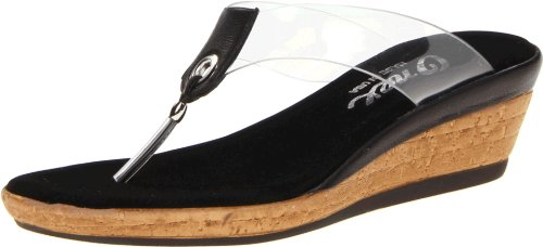 Onex Women's Brucie Thong Sandal,Black,8 M US