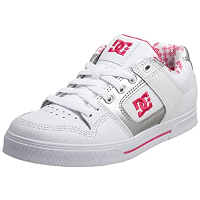 DC Womens Pure Lace-Up White/Met Silver/Crazy Pink D0300885 8 Uk