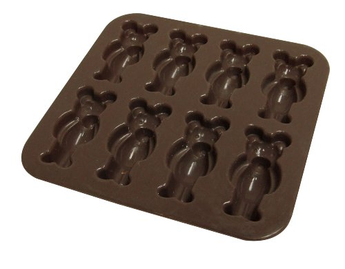 Yoko-Design-1196-Moule-Oursons-SiliconePlatine-Chocolat-147-x-144-x-18-cm