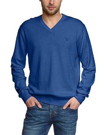 GANT Herren Pullover 83072,  Gr. 58 (XXXL),  Blau  (BLUE MELANGE)