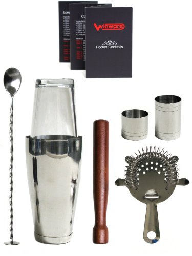 WIN-WARE Boston Cocktail Shaker Gift Set - Includes