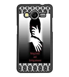 PrintDhaba Quote D-3261 Back Case Cover for SAMSUNG GALAXY CORE 2 G355H (Multi-Coloured)