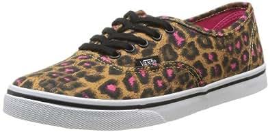 Vans U Authentic Lo Pro Leopard, Baskets mode mixte adulte - Noir (Black/Magenta), 35 EU