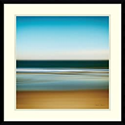 Framed Art Print, \'Sea Stripes I\' by Katherine Gendreau: Outer Size 23 x 23\