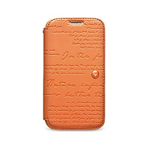 Amazon.com: Zenus Samsung Galaxy S4 Lettering Diary - Orange: Cell