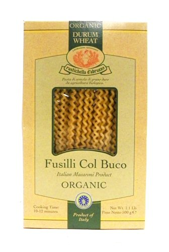 Rustichella Organic Durum Wheat Fusilli Col Buco Pasta 1.1 lb