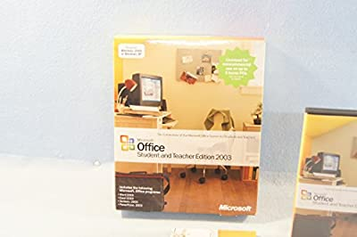 Microsoft Office Student and Teacher Edition 2003 w/Big Box and Original Case + Genuine Serial Key Code PC Computer Soiftware Program Install
