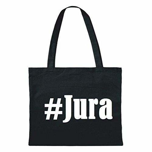 """Tasche""""#Jura""""Größe""""38x42""""Farbe""""Schwarz""""Druck""""Weiss"""