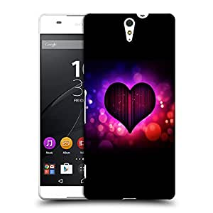 Snoogg Colorful Heart Designer Protective Back Case Cover For SONY XPERIA C5 ULTRA