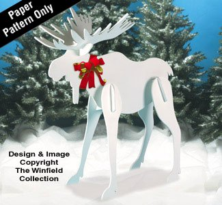 Christmas Moose Yard Art Woodworking Pattern by Winfield Collection