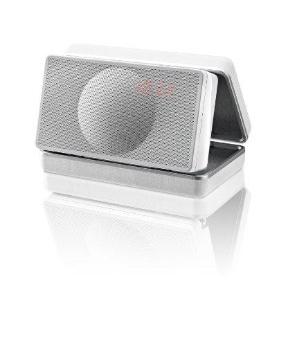 Geneva Sound System Model XS Travel HiFi System with FM Clock Radio, Bluetooth & Leather Case (White) (Geneva Sound System Model Xs compare prices)