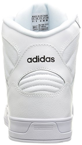 Adidas NEO Women's Raleigh Mid W Fashion Sneaker, White/Black/White, 9 M US