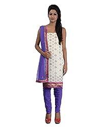 Mumtaz Sons Women's Cotton Unstitched Dress Material (MS111458B,Purple)