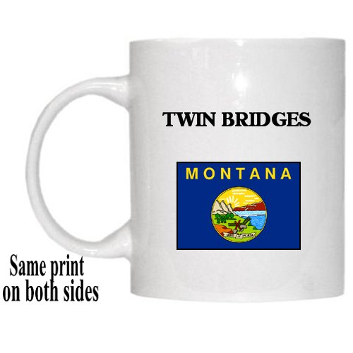 US State Flag  TWIN BRIDGES, Montana (MT) Mug Picture