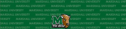 Marshall Thundering Herd Team Auto Visor Decal