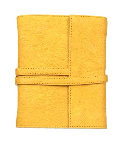 Marina Vaptzarov Medium Vegetal Leather Cover Travel Diary, Yellow
